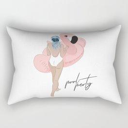 Pool party flamingo Rectangular Pillow