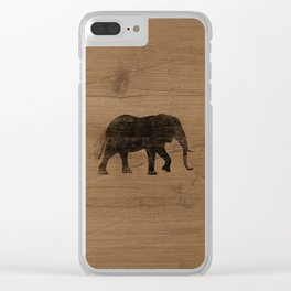 African Elephant Silhouette(s) Clear iPhone Case