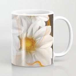 Flowers White Black Orange Coffee Mug