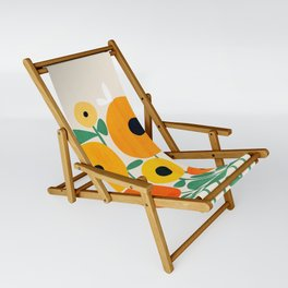 Sunflower and Bee Sling Chair