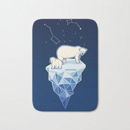 Polar bears on iceberg Bath Mat