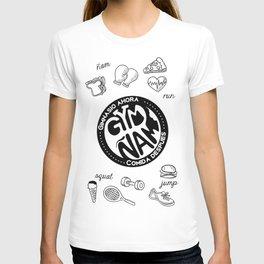Balance perfecto, el gym y el ñam T-shirt