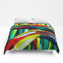 Abstract Kicking Legs Comforters
