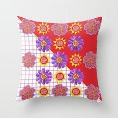 Flowers of the Sun Throw Pillow