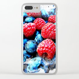 Fruits and berrys V Clear iPhone Case