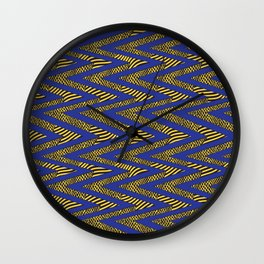 Acro in Blue and Yellow Wall Clock