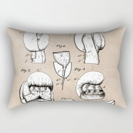 patent Boxing glove Harvey 1896 Rectangular Pillow