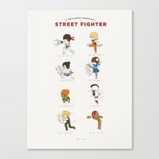 Street Fighter Classic Moves Canvas Print