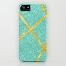 Shiny Water & Gold iPhone Case