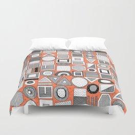 frisson memphis bw orange Duvet Cover