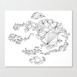 Avatar the Last Airbender: Map (Line) Canvas Print