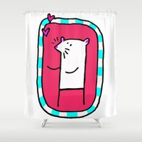 mouse Shower Curtains featuring Mouse by Le Petit Juif