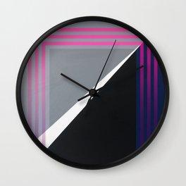 London - pink graphic Wall Clock