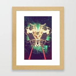 Galactic Cats Saga 1 Framed Art Print