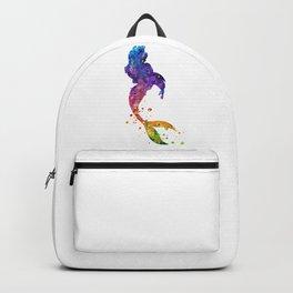 Mermaid Art Watercolor Art Colorful Gift Ocean Art Mermaid Lovers Gift Backpack