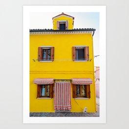 Life is good, Burano Italy Art Print