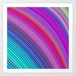 Cold rainbow stripes Art Print