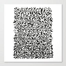 black leafes print Canvas Print