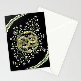 Neverending Story Inspired Auryn Garden in Black Stationery Cards