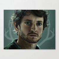 will graham Canvas Prints featuring Will Graham by Madison Yang