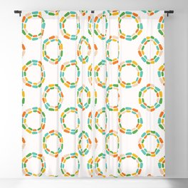 Abstract dotty retro circles. Blackout Curtain