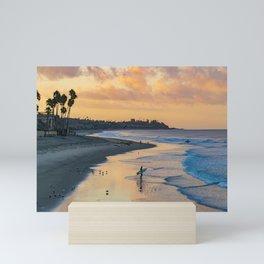 Sunrise Surfer in San Clemente Mini Art Print