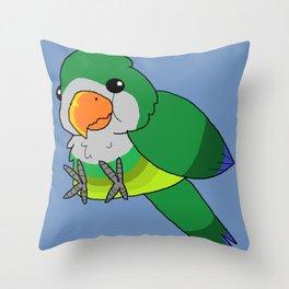 Smol Quaker Parrot Throw Pillow