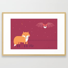 Mammal Next Door introducing Oddity & Cosmos Framed Art Print