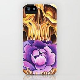 Peony Skull iPhone Case