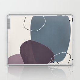 Abstract Glimpses in Peninsula Blue and Aubergine Laptop & iPad Skin