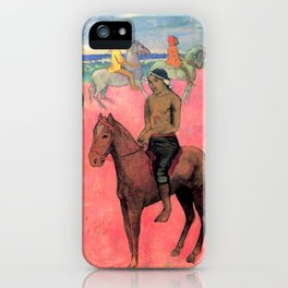 "Paul Gauguin ""Horseman on the Beach (Hiva Hoa)"" iPhone Case"