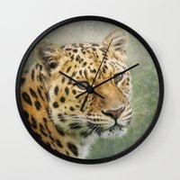 leopard Wall Clocks featuring Leopard by Pauline Fowler ( Polly470 )
