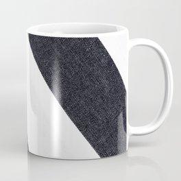 White & Black Stripes Coffee Mug