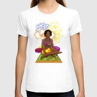 hippie T-shirts featuring Hippie Chick by Kivitasku Designs