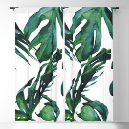Tropical Palm Leaves Classic Blackout Curtain