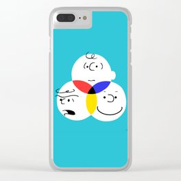 Charlie Brown, colour wheel Clear iPhone Case