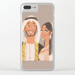 Emirati married couple wedding Clear iPhone Case