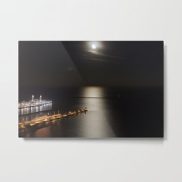 Navy Pier Moonlight Metal Print