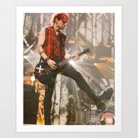 michael clifford Art Prints featuring Clifford Michael // Live by Fan_Girl_Designs