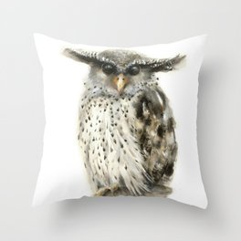 Forest Eagle Owl Throw Pillow
