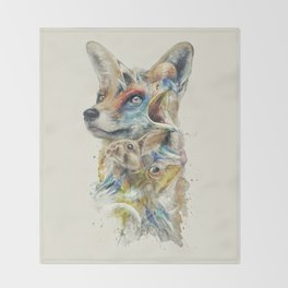 Heroes of Lylat Starfox Inspired Classy Geek Painting Throw Blanket