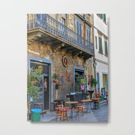 Time for a cafe at an Italian restaurant Metal Print