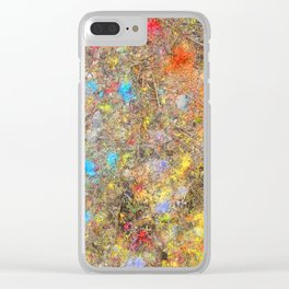 Aftermath of a Color Explosion Clear iPhone Case