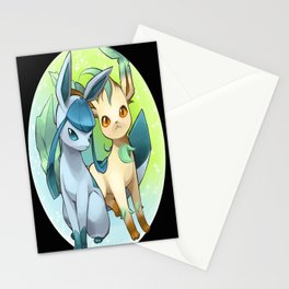 Leafeon & Glaceon Stationery Cards