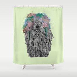 Dredlock Dog (Pastel Green Edition) Shower Curtain