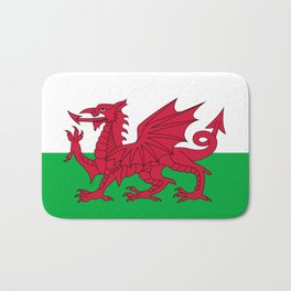 National flag of Wales - Authentic version Bath Mat