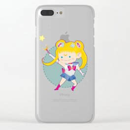 In the name of Love and Justice - Sailor Moon Clear iPhone Case
