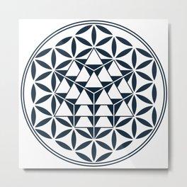 Vector Equilibrium, Sacred Geometry Metal Print