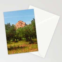Medieval Abbey among olive trees in Italy Stationery Cards