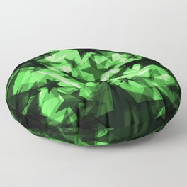 Dark green space stars with glow in the distance from the foil in perspective. Floor Pillow